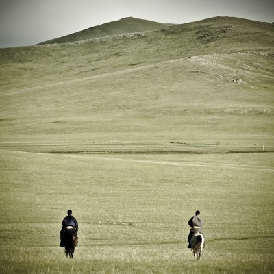 MONGOLIE - 2 cavaliers...